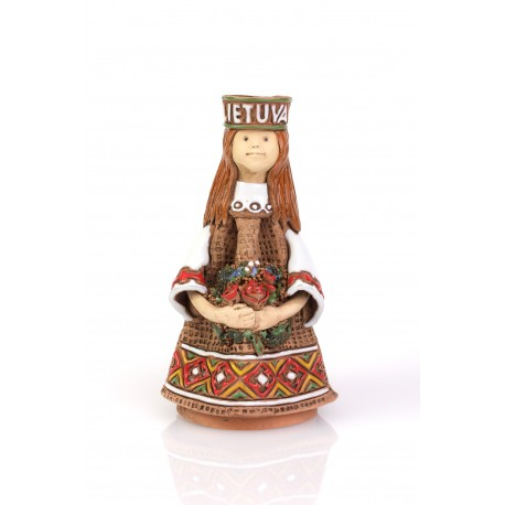 """Keramikinė suvenyrinė skulptūrėlė """"Lietuvaitė"""""""