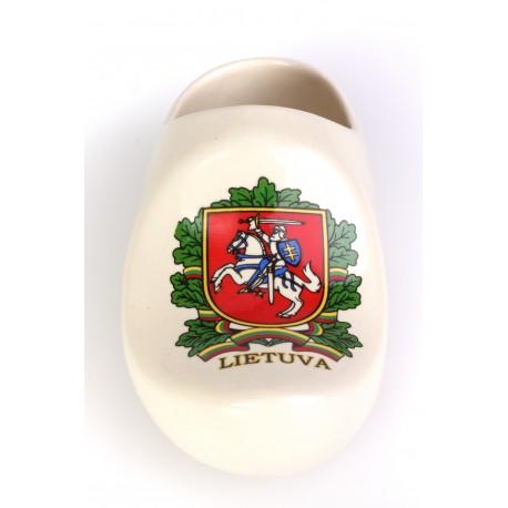 Keramikinė klumpė su Lietuvos herbo atvaizdu