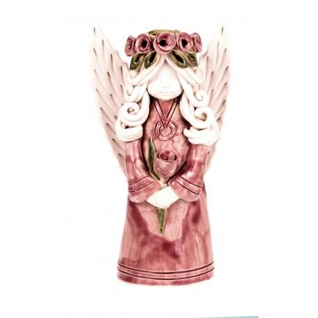 Rankų darbo keramikinis angelas