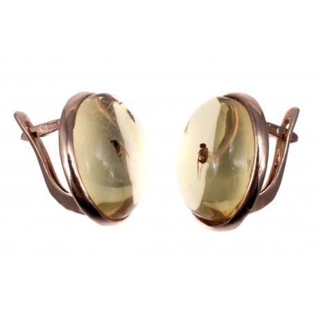 Auksiniai auskarai su inkliuzais
