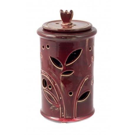Raudonas keramikinis indas
