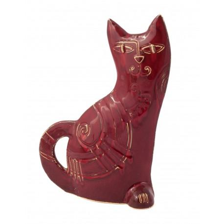 Keramikinė katino skulptūrėlė