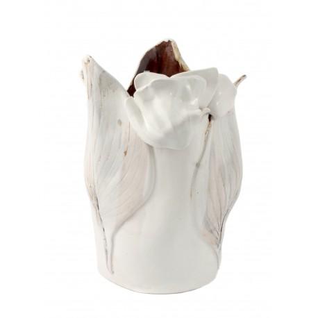 Balta keramikos vaza