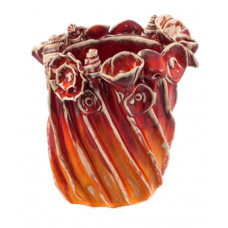 Keramikos rankų darbo vaza