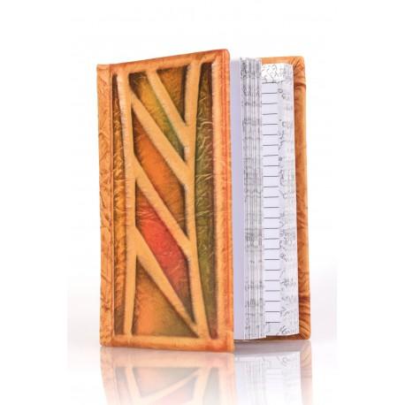 Natūralios odos užrašų knygelė
