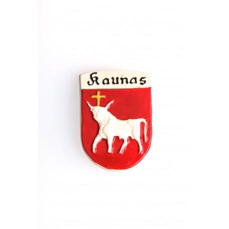 Keramikinis magnetas su Kauno miesto herbu