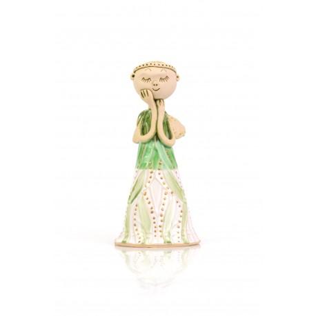 """Keramikinė angelo skulptūrėlė """"Svajoklis angelas"""""""