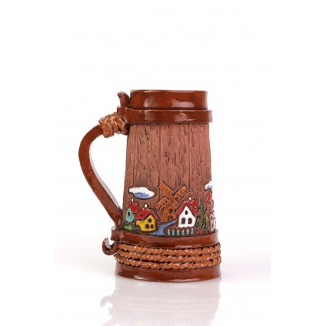 Keramikinis rankų darbo bokalas