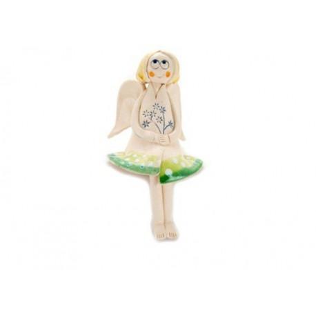 Keramikinis sėdintis angeliukas