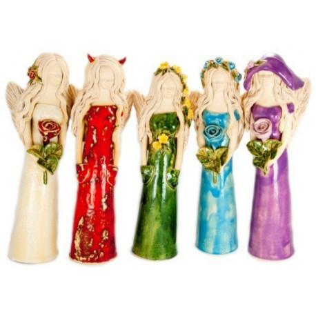 """Keramikos ir šamoto skulptūrėlė """"Angelas"""""""