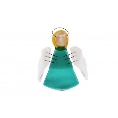 Vitražinio stiklo angelas