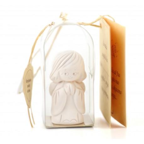 Baltas keramikinis angeliukas