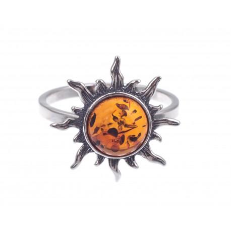 """Sidabrinis žiedas """"Saulė"""""""