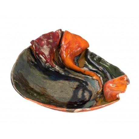 Rankų darbo keramikos lėkštė