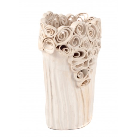 Rankų darbo keramikos vaza