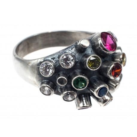 Prabangus sidabro žiedas