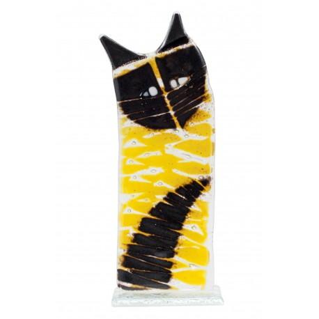 """Vitražinio stiklo skulptūra """"Katinas"""""""