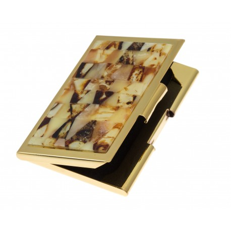 Vizitinių kortelių dėklas su margu gintaru